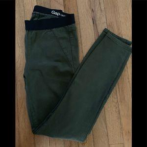 Gap pull on skinny jeans, size 6, dark green, EUC